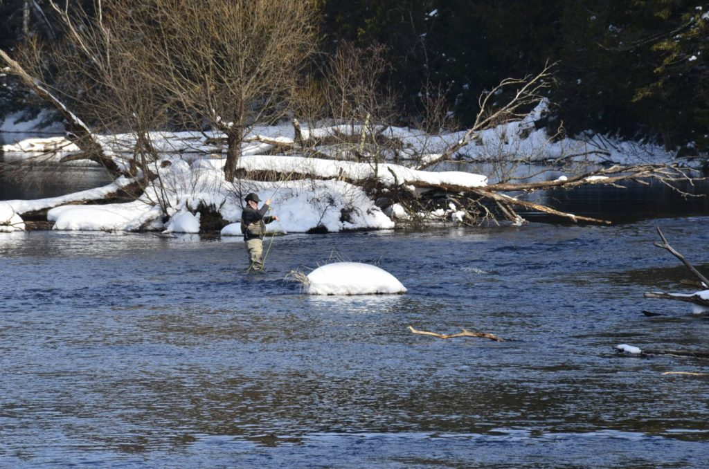 Winter Fly Fishing on the Namekagon