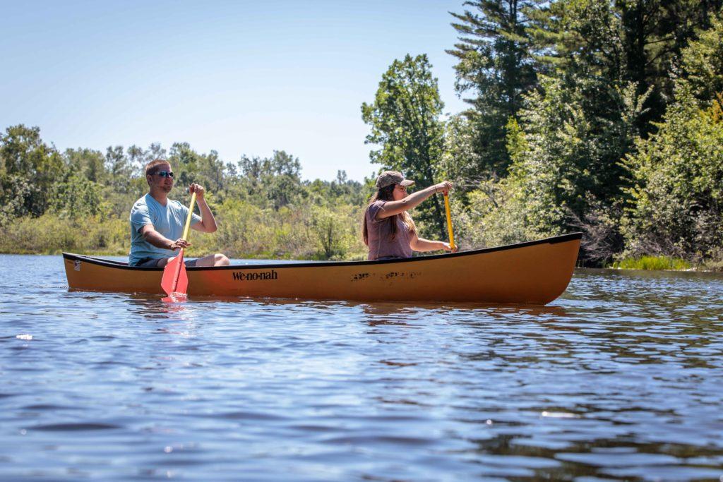 Canoeing on the Namekagon in Washburn County
