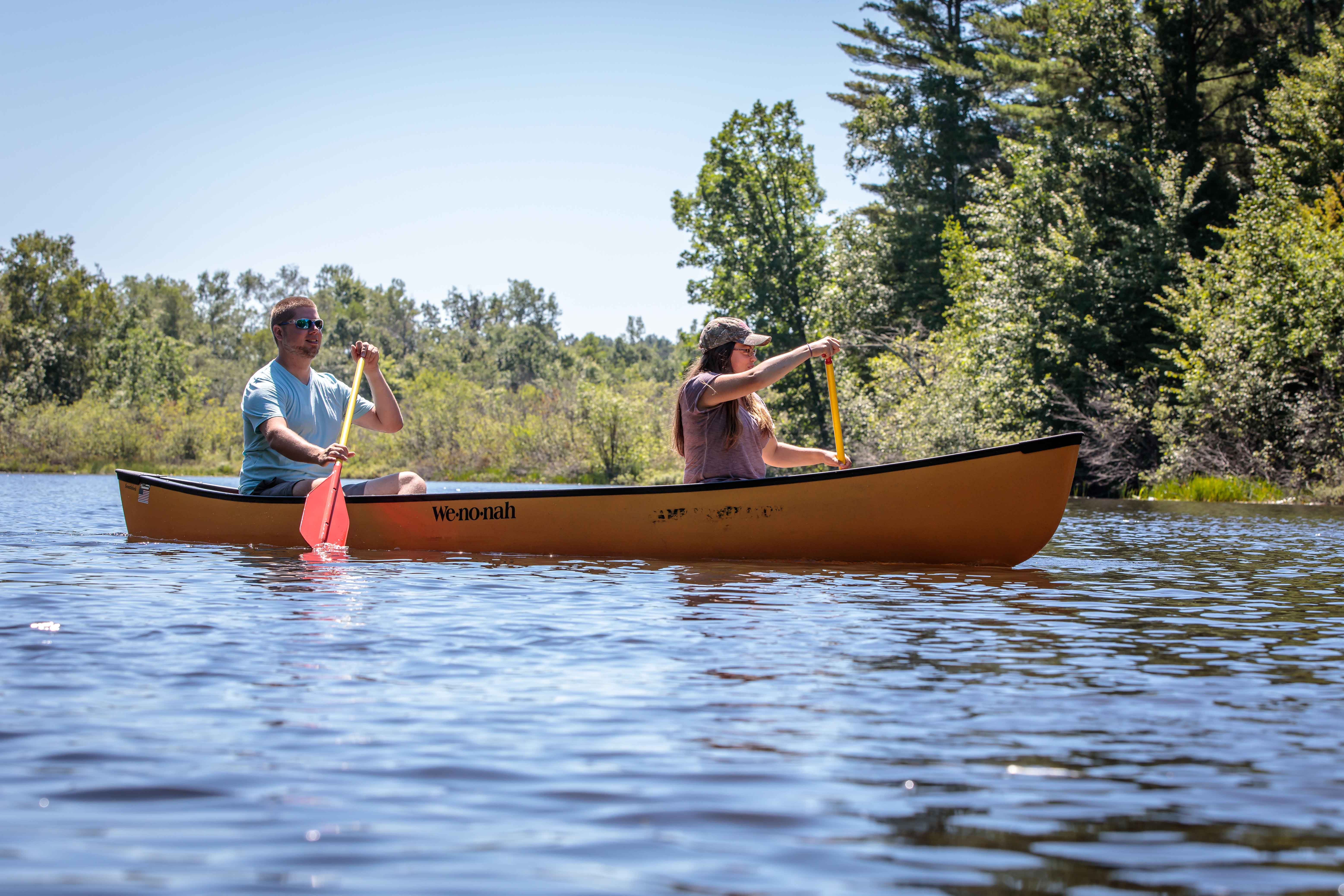 Canoeing on the Namekagon in Washburn County