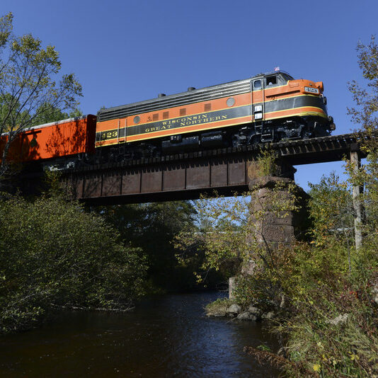 Wisconsin Great Northern Railroad crossing the Namekagon River