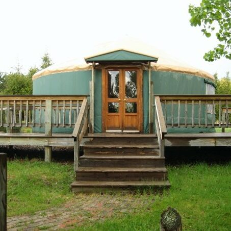 Namekagon Waters Retreat, a yurt along the Namekagon River